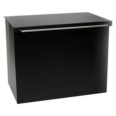 Hout-/pelletbak 117/503 zwart
