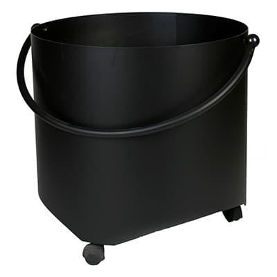 Houtbak 117/505 zwart op wielen