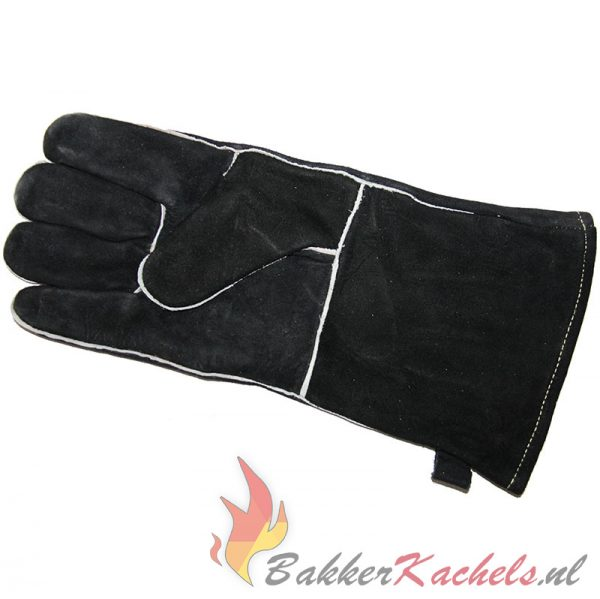 Hittebestendige handschoen daim leder