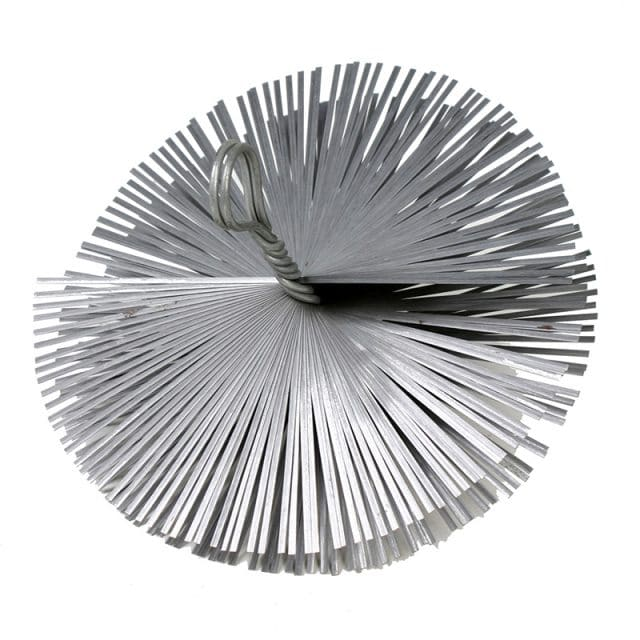 Staalborstel schoorsteenvegen rond