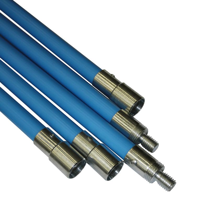 Budget flexibele veegstok professioneel 120 cm (blauw)