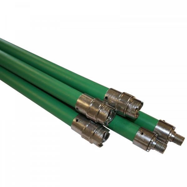 Flexibele stok + schroefdraad professioneel (groen)