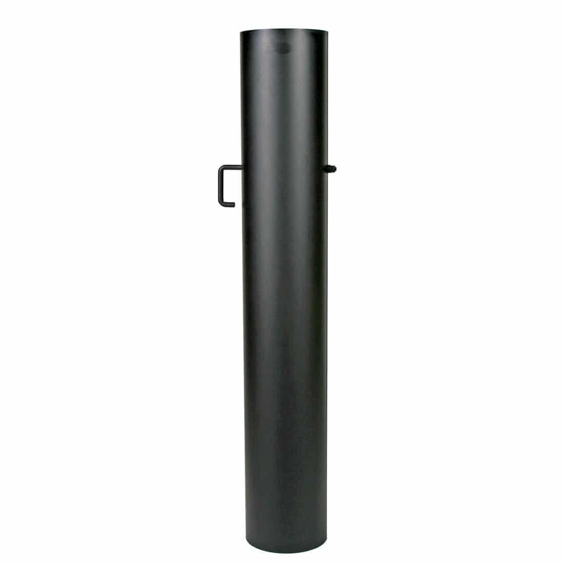 Dikwandige stalen pijp strak met klep, 100cm