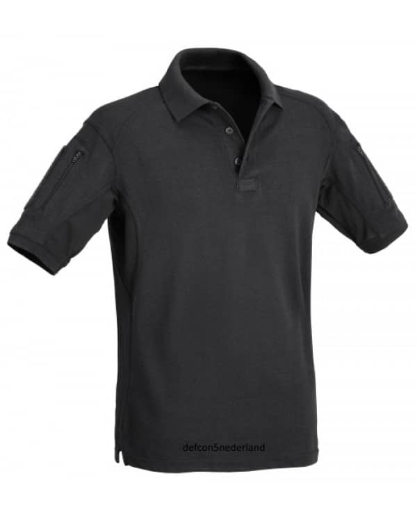 Defcon 5 Tactical Polo Short Sleeves With Pockets Black 600x750 1