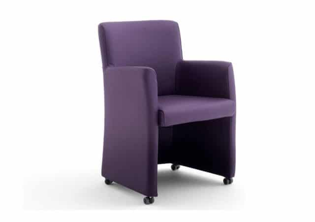 Cadenza Dining chair Leather Purple