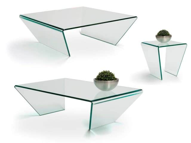 Curvo Glass Coffee Tables Design