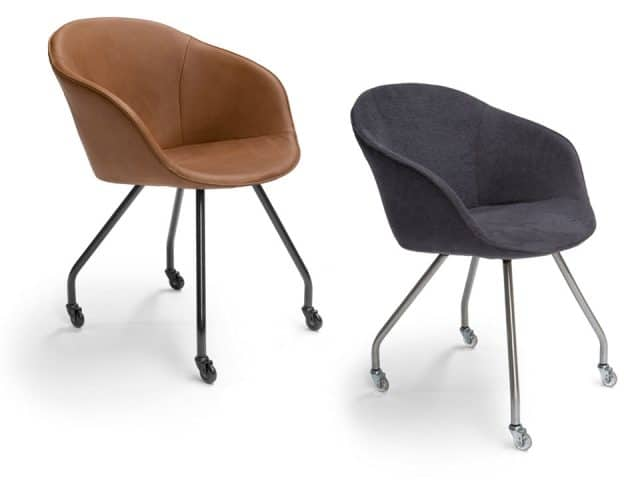 Dolce Design Dining Chairs With Armrests On Wheels