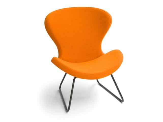 Ruby Slide Armchair Stoff Orange Sled Black Epoxy