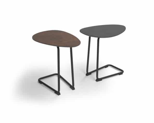 Bank Tisch Twinny Achat Grau Bronze