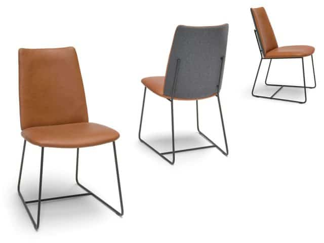 Design Dining chair Leather Cognac City