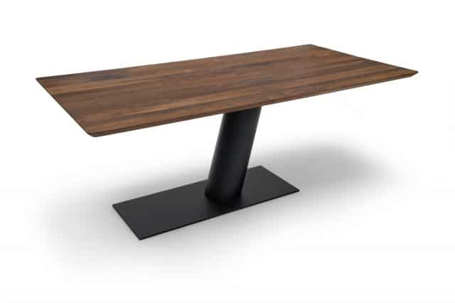 Design Dining Table Walnut Black Frame Libra Table