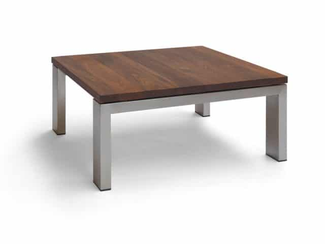 Design Coffee Table Walnut Stainless Steel Frame