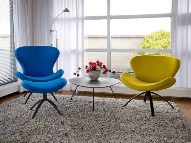 Swivel armchair Fabric Yellow Swivel armchair Fabric Blue Peggy Ruby