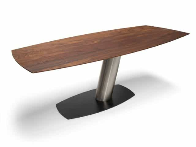 Eettafel Notenhout Design Tonvormig Brees New World Libra