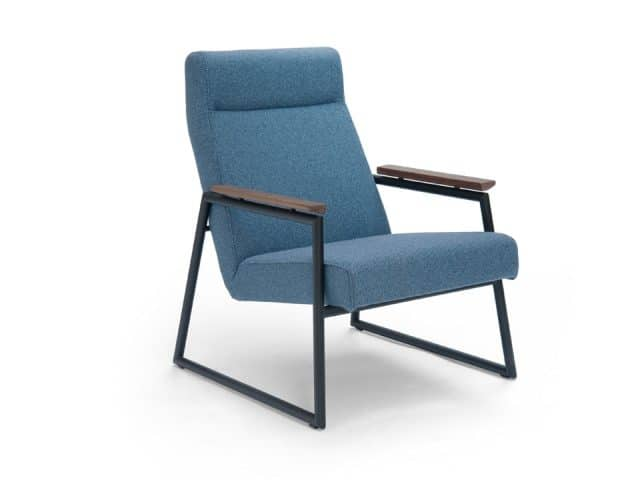Retro Sessel Stoff Blau Prestige Breesnewworld Sessel
