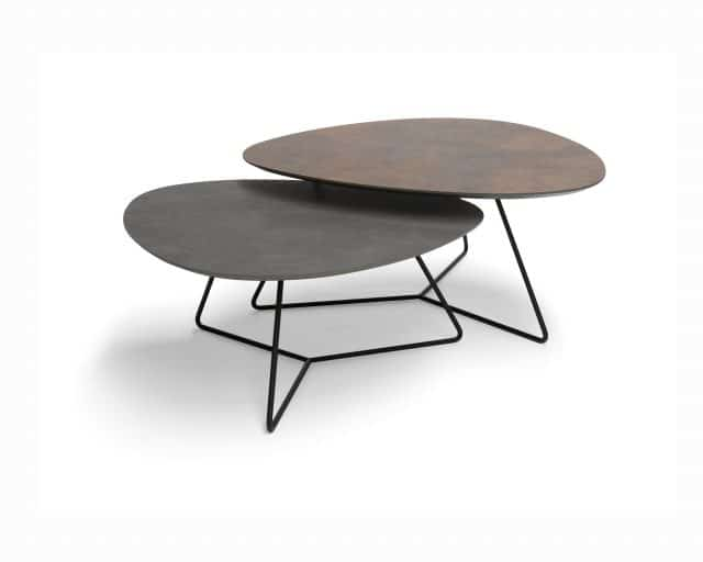 Coffee tables Twinny Bronze Agate Hpl Plastica