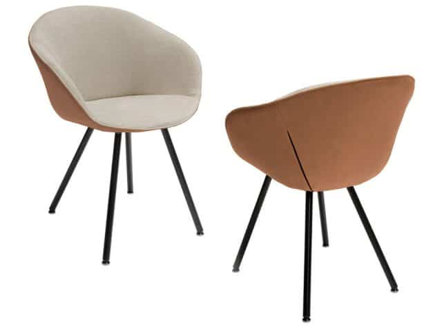 Dolce Design Bucket Seat On Legs Leather And Fabric