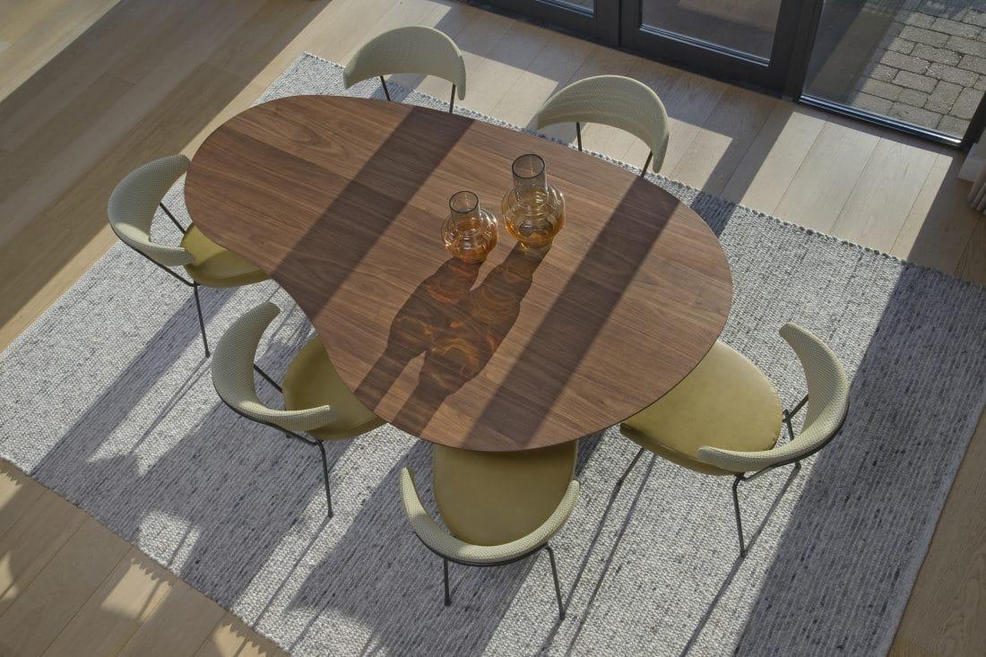 Cloudy Design Eettafel Noten Slice Eetkamerstoelen Eetkamer Modern Scaled