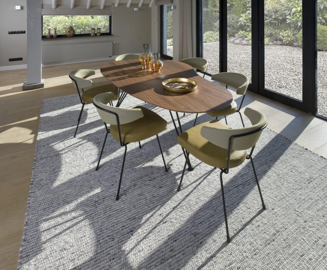 Cloudy Eettafel Noten Slice Eetkamerstoelen Modern Design Scaled