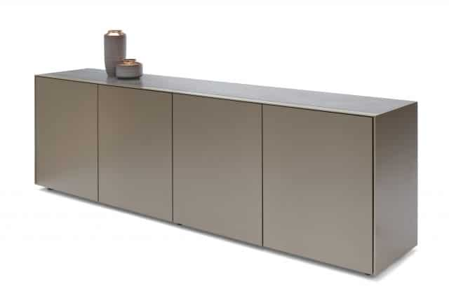 Solitaire Ds236 Modern Sideboard Metallic Lacquer Slugde 4 Doors Breesnewworld Scaled