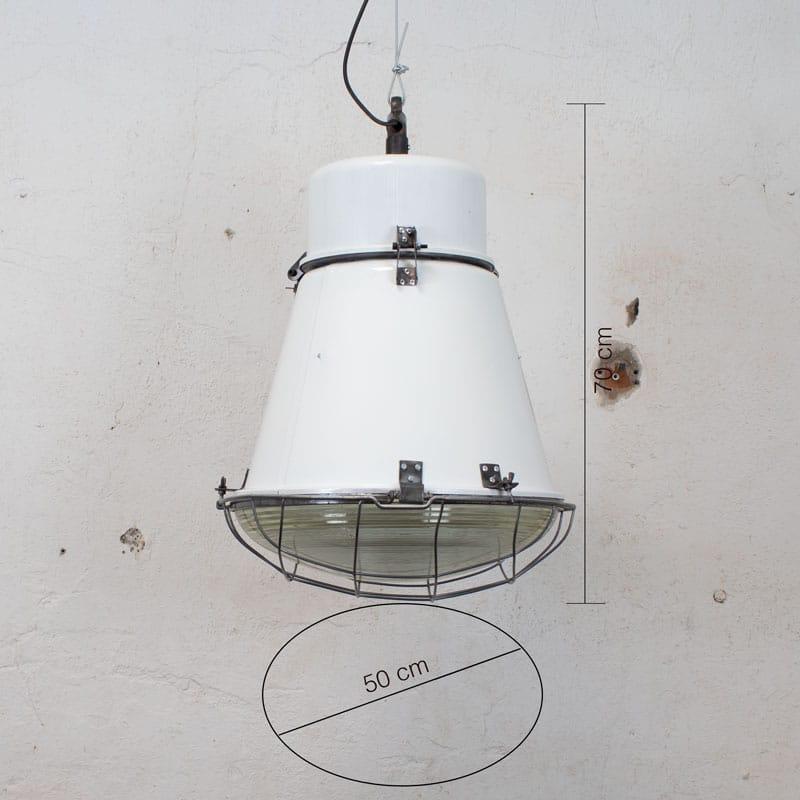 Witte Barrel Fabriekslamp