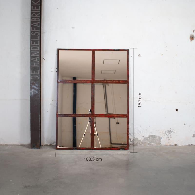 Industrieel Smeedijzeren Spiegel 2