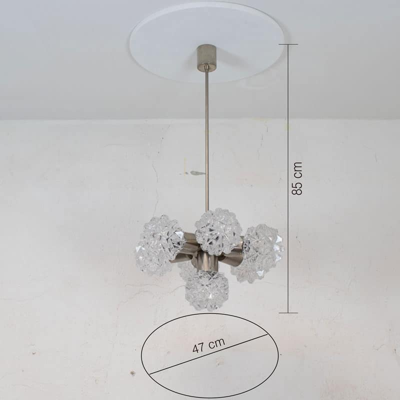 Glazen Retro Hanglamp