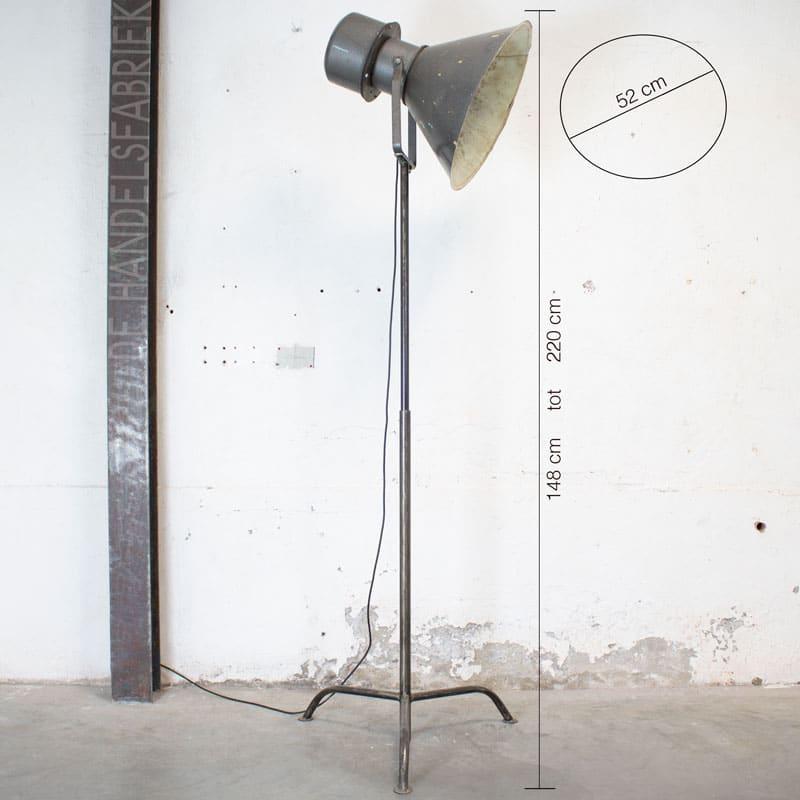 Industriele Metalen Vloerlamp
