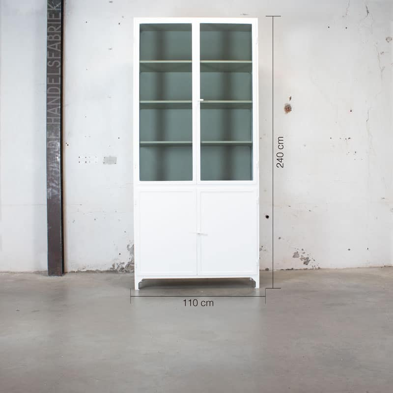 Apothekerskast Szep White Green 4 Deurs