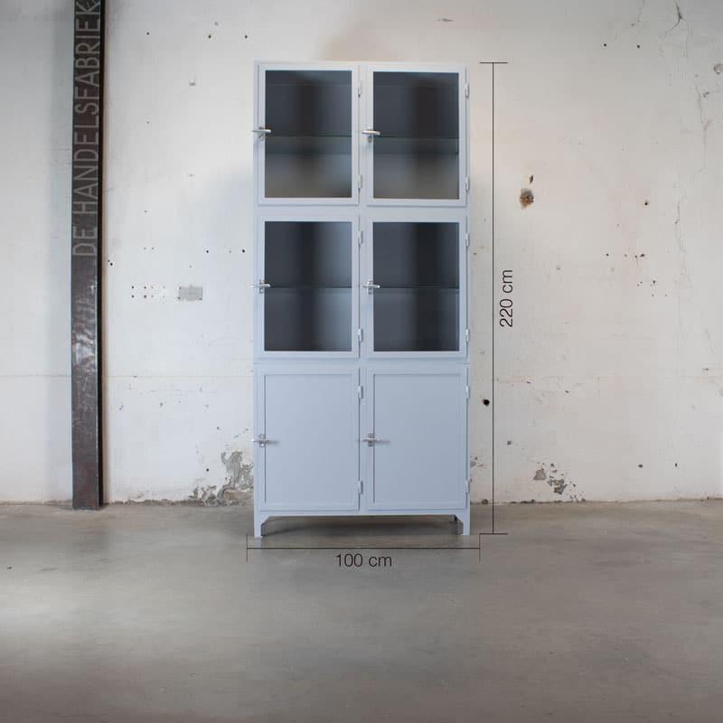 Apothekerskast Szep Window Grey 6 Deurs