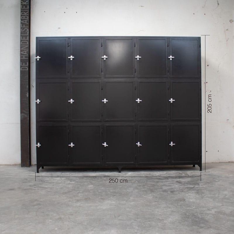 Apothekerskast Eros Black 15 Deurs