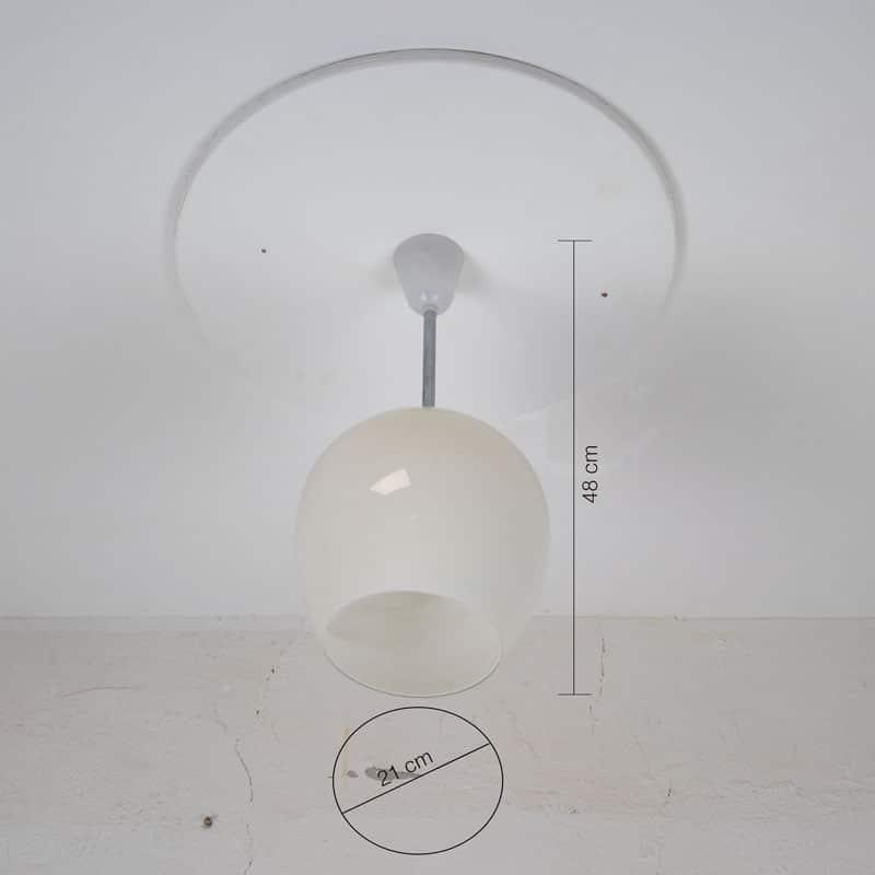 Melkglazen Retro Lamp