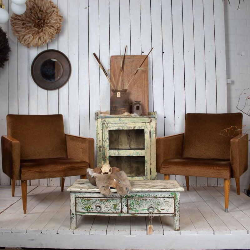Velvet Chair Okerbruin