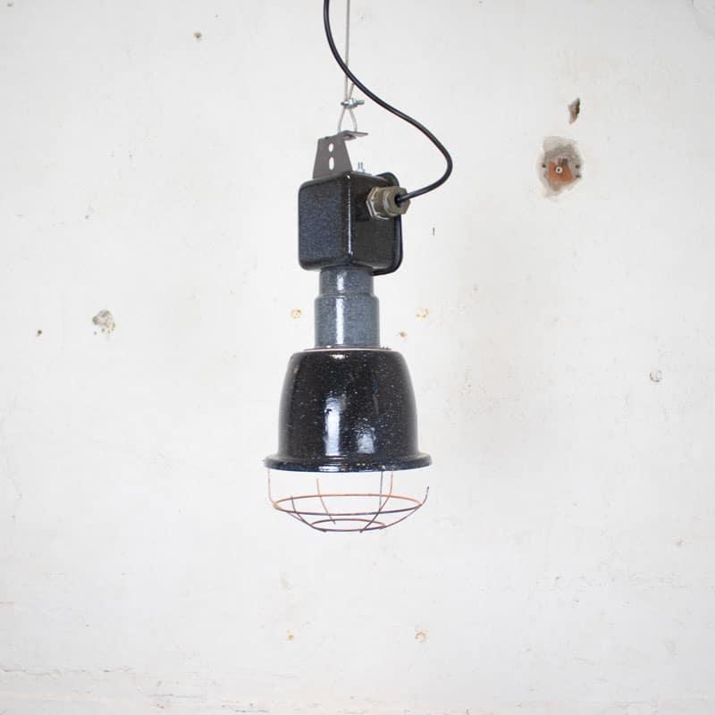 Emaille Hanglamp Met Kooi