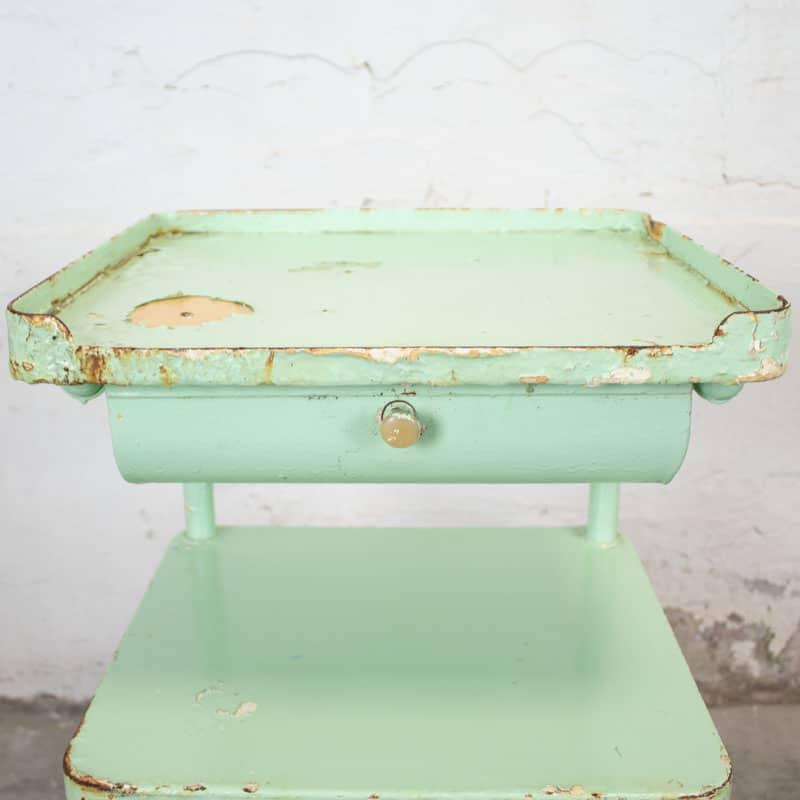 Vintage Ziekenhuiskastje Mintgroen