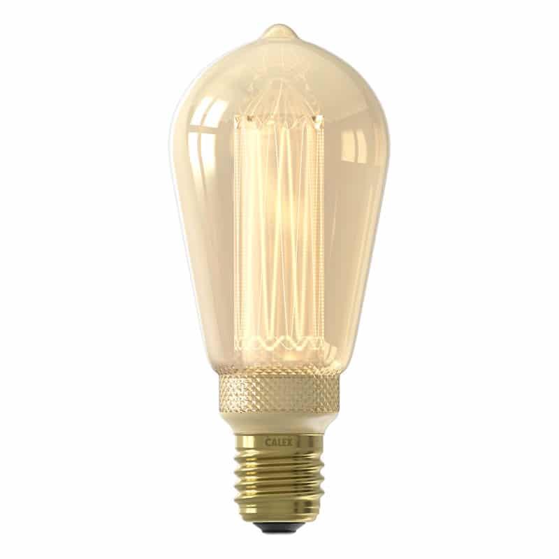 Calex Crown Rustic Bulb Led Lamp E27 8211 100 Lumen