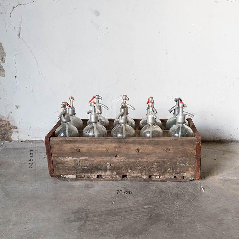 Oude Spuitflessen In Krat