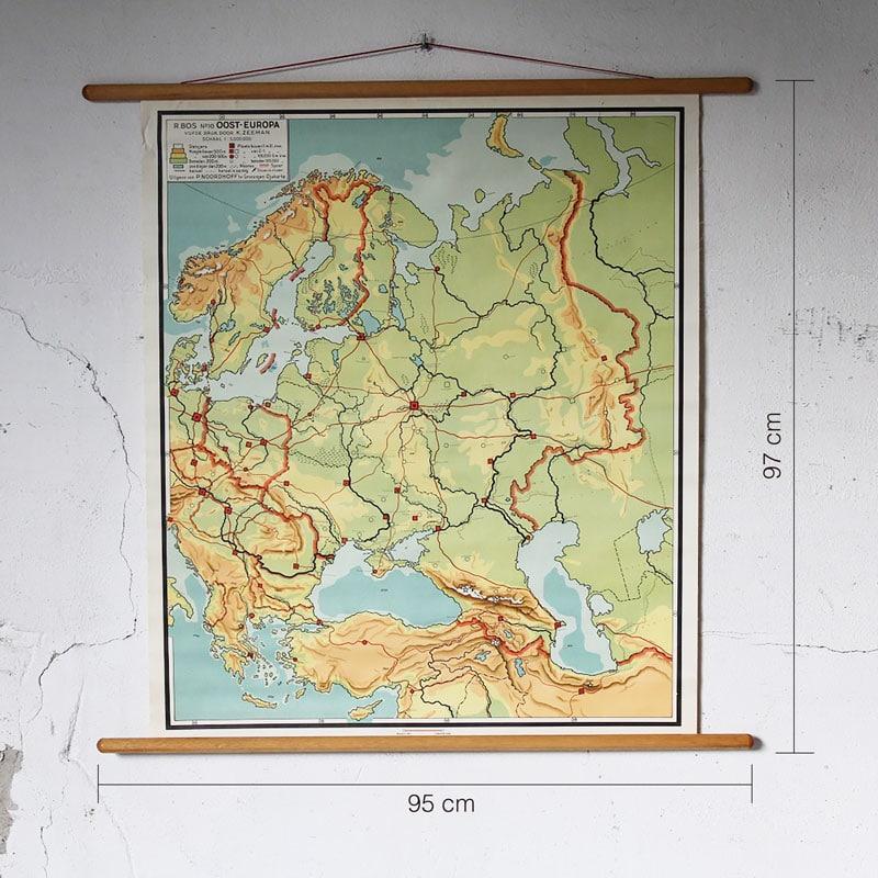 Landkaart Oost Europa