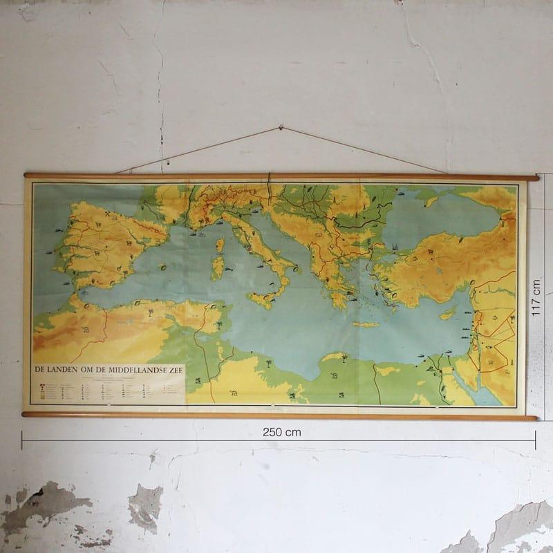 Kaart Van De Landen Om De Middellandse Zee