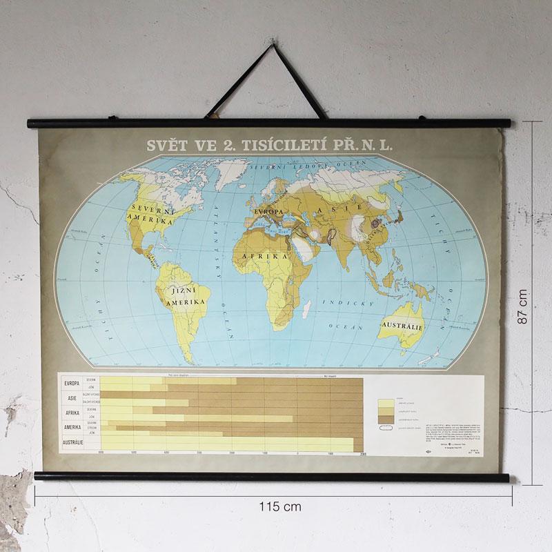 Wereldkaart Met Tsjechische Benaming