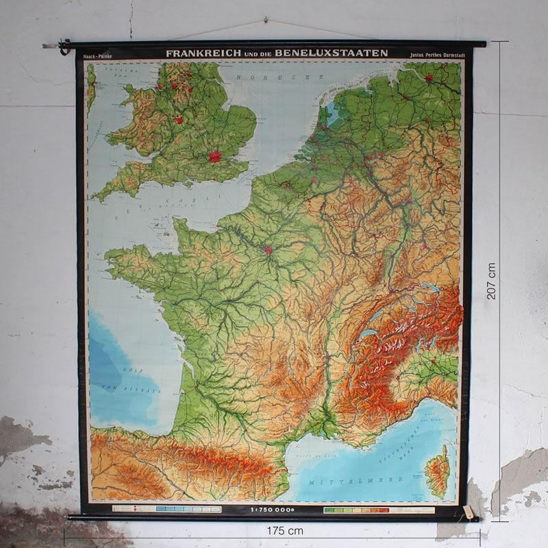 Landkaart Frankrijk En Benelux