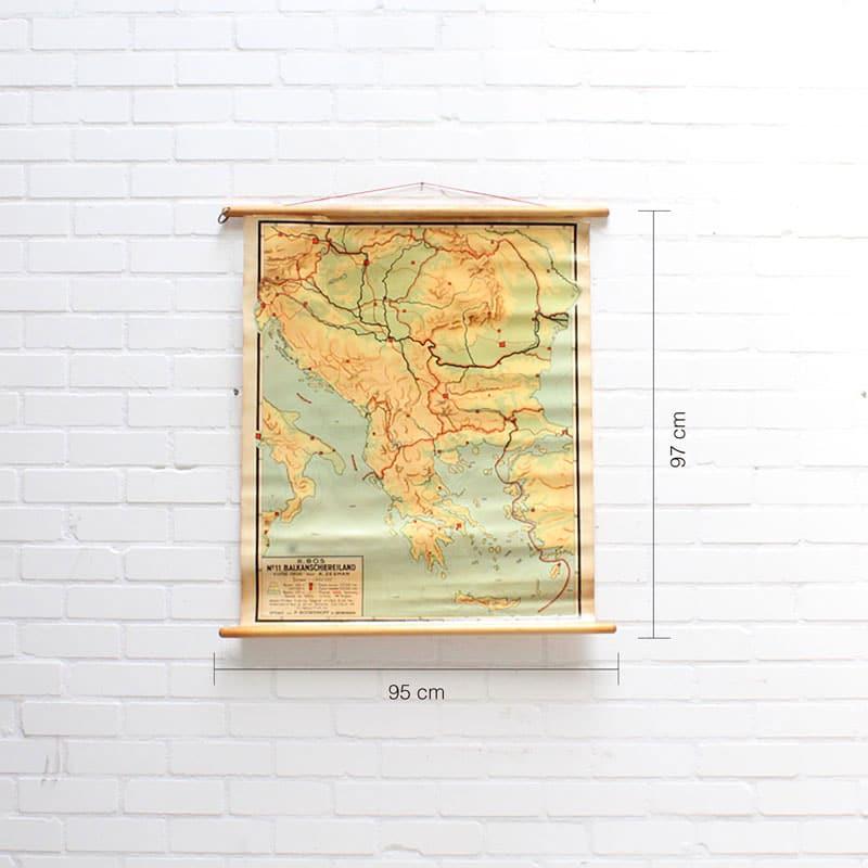 Landkaart Balkanschiereiland