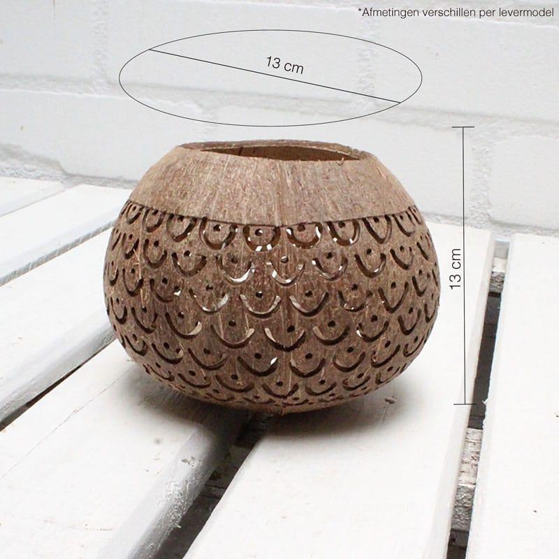 Kokosnoot Waxinelichthouder