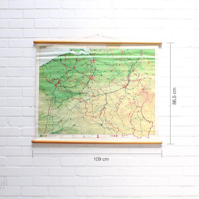 Landkaart Belgi En Luxemburg