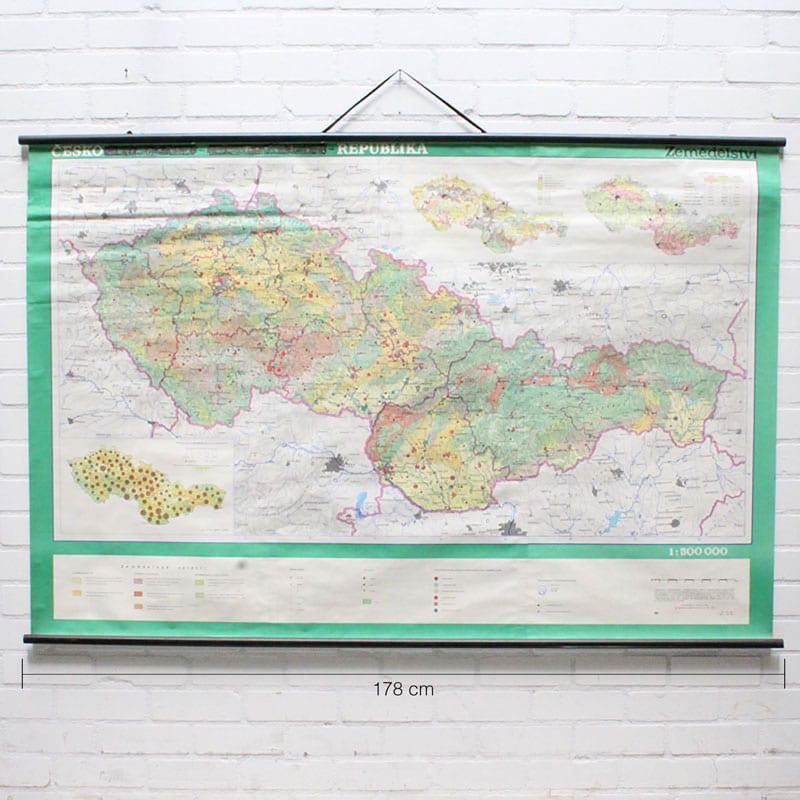 Landkaart Tsjechi