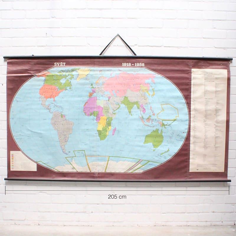 Wereldkaart 1918 8211 1938