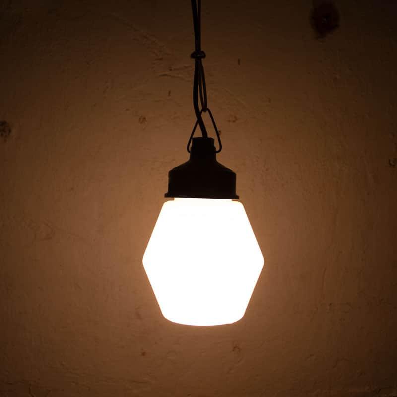 Vintage Melkglazen Hanglampen Rond