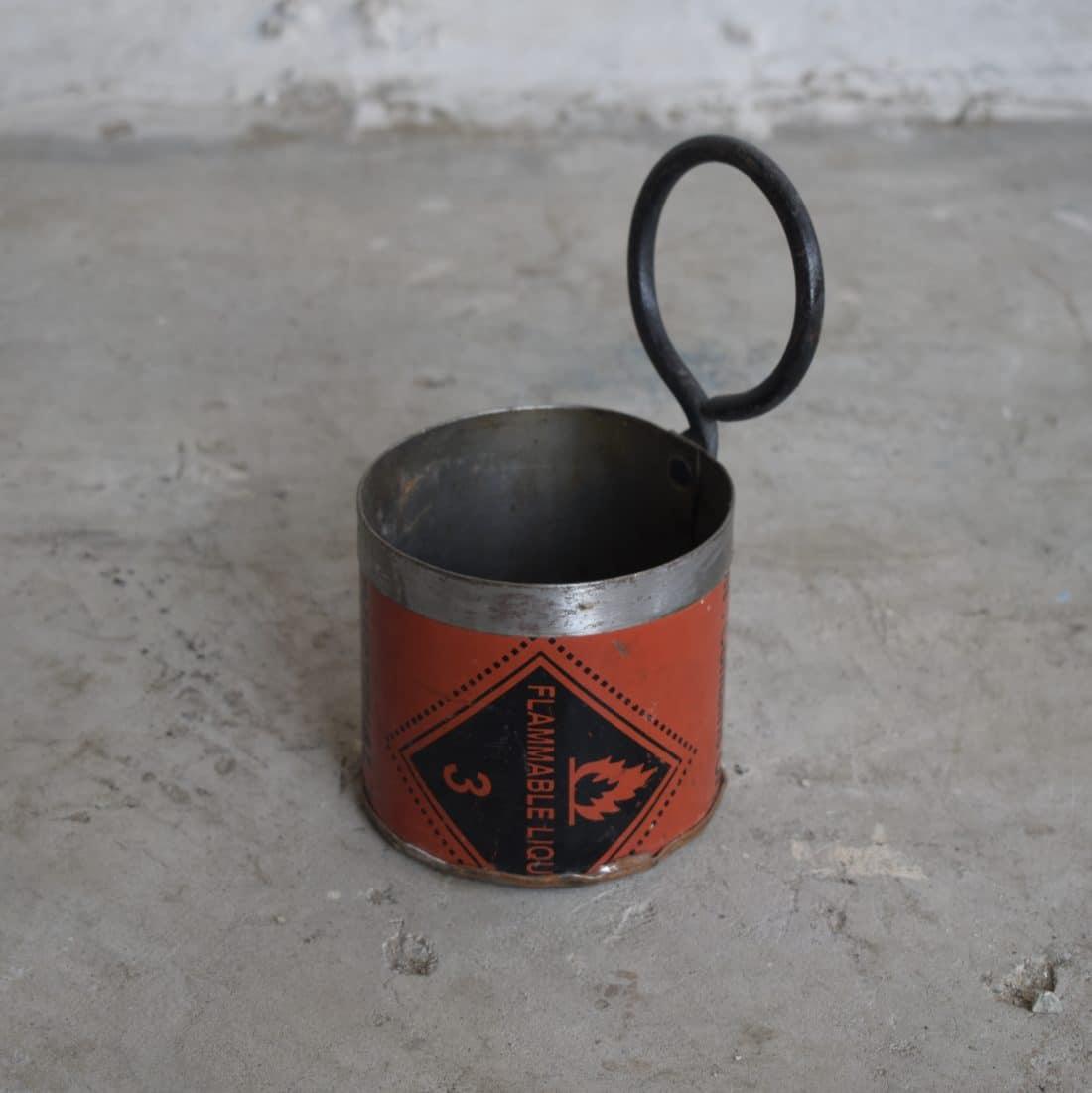 Stoer Metalen Bakje Met Ring Blauw