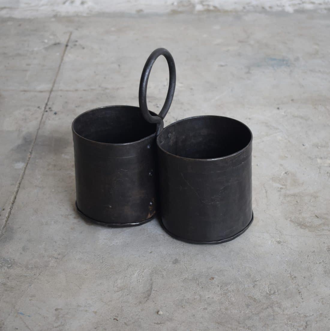 Stoere Dubbele Bakjes Met Ring