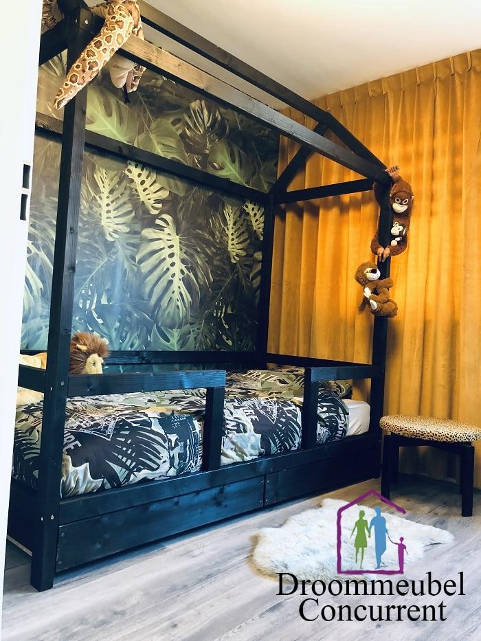 Bedhuisje Jungle met dubbele lade